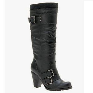Aldo Voller Black Tall Slouchy Boots